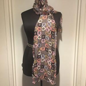Coach silk scarf